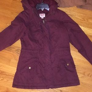 Burgundy/wine winter jacket